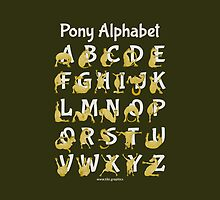 Pony Alphabet, Brown by piedaydesigns