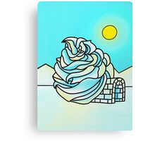 Icing Igloo Canvas Print