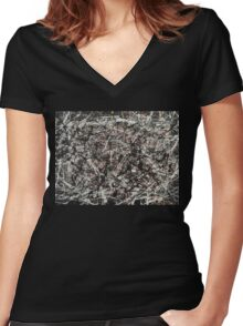 Retitled: Untitled Women's Fitted V-Neck T-Shirt