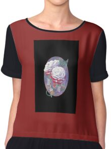 Painted Roses For Wonderland's Heartless Queen Case Chiffon Top