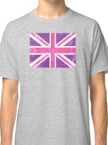 Pink and Purple Union Jack Classic T-Shirt