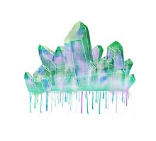 Watercolor Crystal Photographic Print