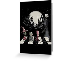 Halloween Road Greeting Card