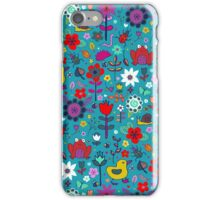 Ducks and Frogs in the Garden iPhone Case/Skin