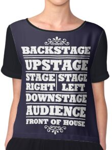 Theatre Geeks Design Women's Chiffon Top