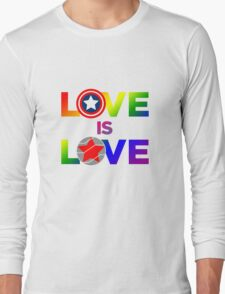 Love is Love - Rainbow & Metal Variant Long Sleeve T-Shirt