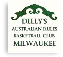 Delly's Austrailian Rules Milwaukee Canvas Print