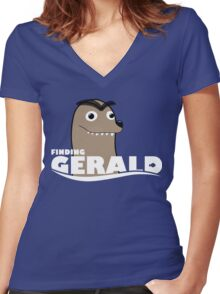 Finding Gerald Women's Fitted V-Neck T-Shirt