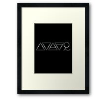 FOUR ELEMENTS PLUS ONE  - scratched steel Framed Print