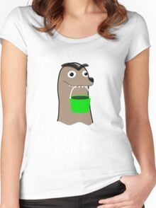 Gerald! Get off our Rock! Women's Fitted Scoop T-Shirt