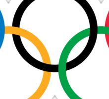The Olympic rings2 Sticker