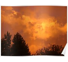 Orange Clouds Reflecting the Sunset Poster