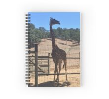 Giraffe With Tongue Out  Spiral Notebook