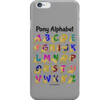 Pony Alphabet Chart, Colourful iPhone Case/Skin