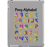 Pony Alphabet Chart, Colourful iPad Case/Skin