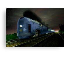 Blue Express Canvas Print