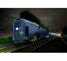 Blue Express Photographic Print