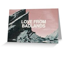 Halsey Love From Badlands  Greeting Card
