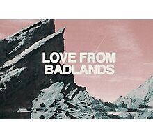 Halsey Love From Badlands  Photographic Print