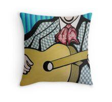 Simple Guitar Throw Pillow