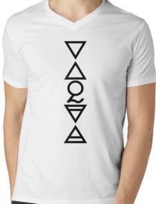 FOUR ELEMENTS PLUS ONE V  - solid black Mens V-Neck T-Shirt