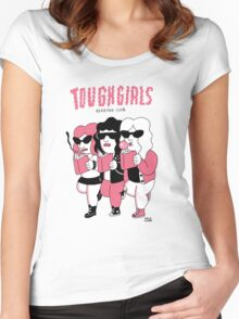 Tough girls reading club Women's Fitted Scoop T-Shirt