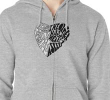 i start to part two halves of my heart Zipped Hoodie