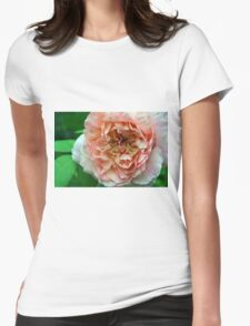 Close up on light pale pink rose petals. Womens Fitted T-Shirt