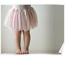 Toddler in pink tutu Poster