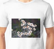 Small white flowers in the garden. Unisex T-Shirt