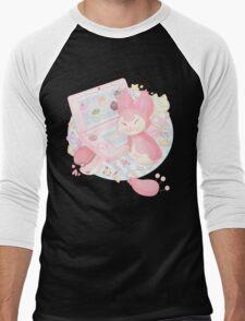 Pastel Skitty Men's Baseball ¾ T-Shirt