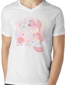 Pastel Skitty Mens V-Neck T-Shirt