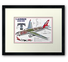 Airlines Collection Airbus A330-200 TAM Framed Print