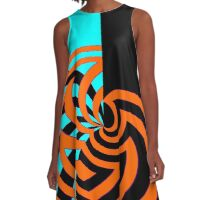 Abstract Web A-Line Dress
