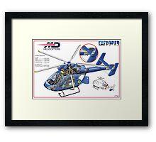 MD Helicopter EXPLORER cutaway Framed Print