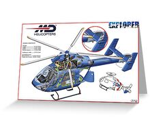 MD Helicopter EXPLORER cutaway Greeting Card
