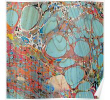 Abstract Painting ; Turquoise Poster