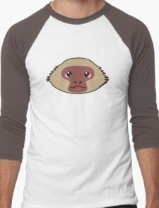 Japanese macaque - The snow monkey Men's Baseball ¾ T-Shirt