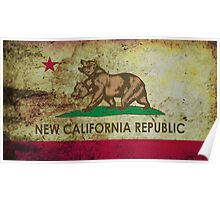 New california republic grunge Poster