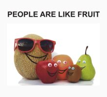 PEOPLE ARE LIKE FRUIT One Piece - Short Sleeve