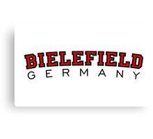 Bielefield Germany Bielefeld Design (Schwarz/Rot) Canvas Print