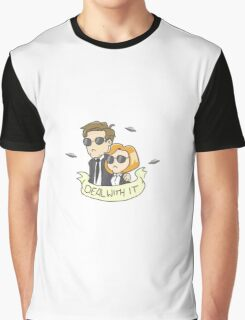 Scully & Mulder Deal With It Graphic T-Shirt