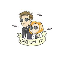 Scully & Mulder Deal With It Photographic Print