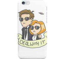 Scully & Mulder Deal With It iPhone Case/Skin