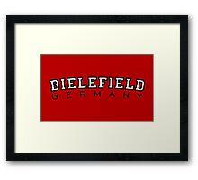 Bielefield Germany Bielefeld Design (Schwarz/Weiß) Framed Print