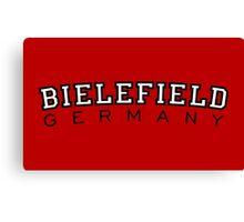 Bielefield Germany Bielefeld Design (Schwarz/Weiß) Canvas Print
