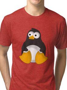 Penguin cartoon drawing Tri-blend T-Shirt