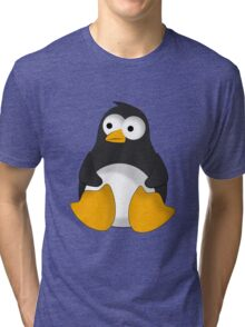 Penguin cartoon drawing Tri-blend T-Shirt