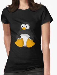 Penguin cartoon drawing Womens Fitted T-Shirt