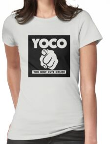 YOCO-black Womens Fitted T-Shirt